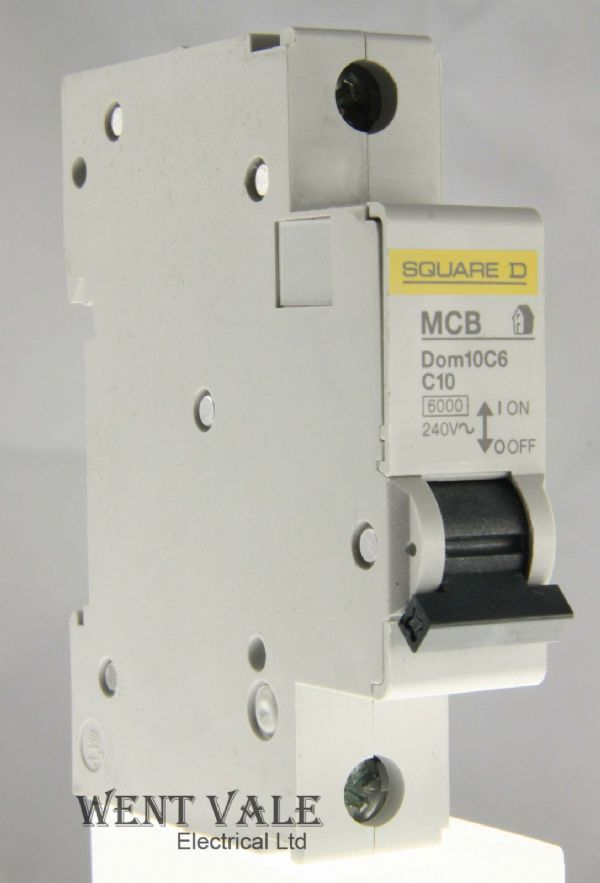 Square D Domae - DOM10C6 - 10a Type C Single Pole MCB New